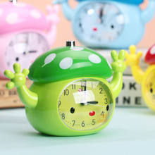 High-grade plastic coloured drawing or pattern and lovely mushroom house students children alarm clocks of objects while voice digital pointer table clock