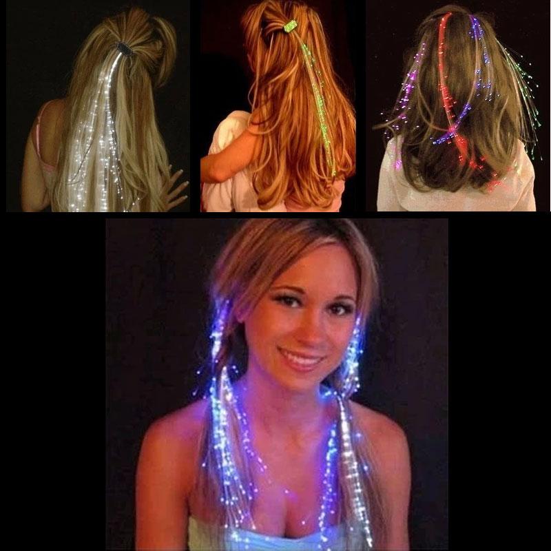 Niceglow свет вспышка коса свет хорошо коса серебристые волосы бар KTV играть петь может использование