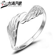 S999 trail month silver pure silver bracelet Bangle in Sterling Silver Angel Wings wings opening fashion bracelets sent his girlfriend
