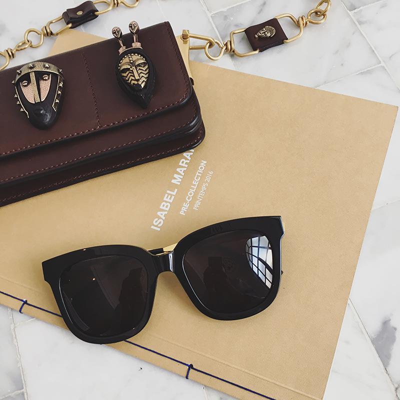 New square glasses for women Korean fashion Polarized Sunglasses net red glasses round face long face square sunglasses for women 2020