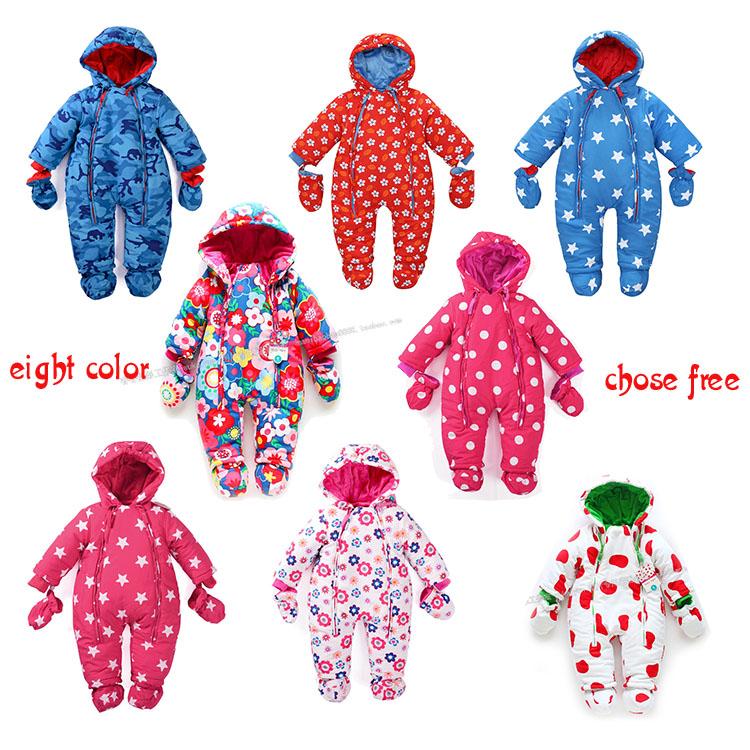 Экспорт baby onesies зимних толстые теплых вниз куртка мужчинам и женщинам ходить Платье ребенка в осенние и зимние пальто