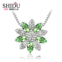 Special hot sell like hot cakes Europe and the United States big tide Austria sunflower crystal pendant necklace Birthday is valentine's day