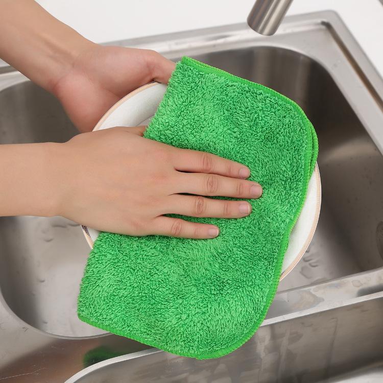 Могут быть связаны коралл мыть чаша ткань двойной большой абсорбент избавиться от волос кухня полотенце мыть чаша ткань 34g