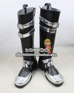 Gray Kanda gifted teenager silver and black version COSPLAY COS shoes shoes
