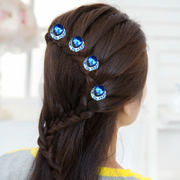 U-type clip Barrette Korea hair pin clip plug the tiara comb hair lotions drill insert hairpin Crystal hairpin