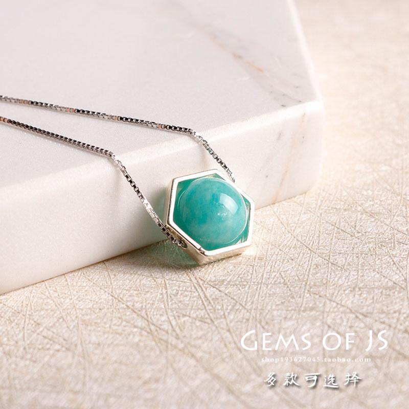 JS 925 серебро украшения драгоценный камень ожерелье инкрустация аметист подвески обсидиан клубника кристалл ключицы цепи женские модели простой аксессуары