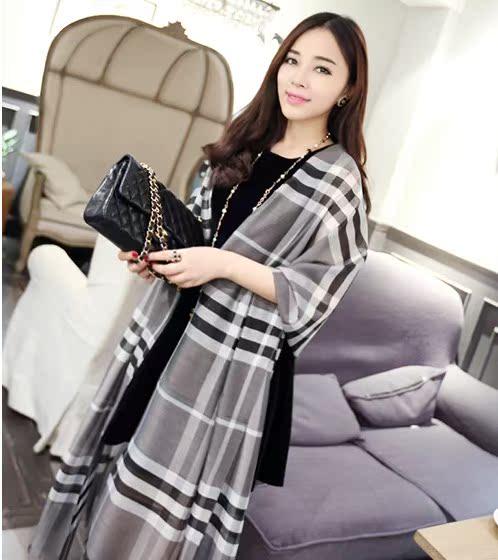 Ветер классики в Европе и Америке длинные плед шарфы женские шарфы в Корее женщин хлопка Англии большие шали Оптовая двойного