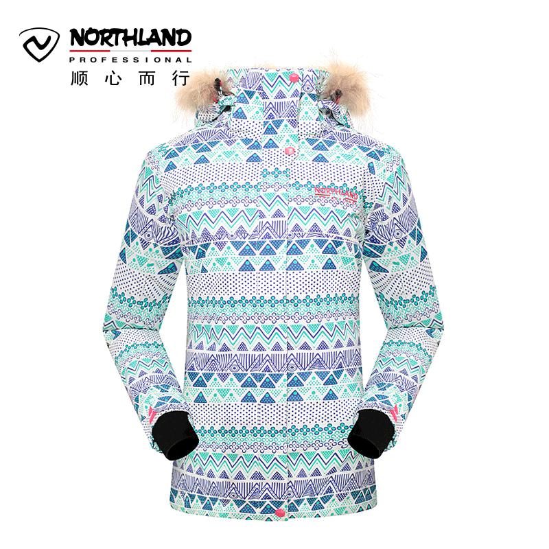 Обещание поэзия орхидея NORTHLAND зима на открытом воздухе скейтборд женская одежда стиль водонепроницаемый воздухопроницаемый катание на лыжах пальто GK032710