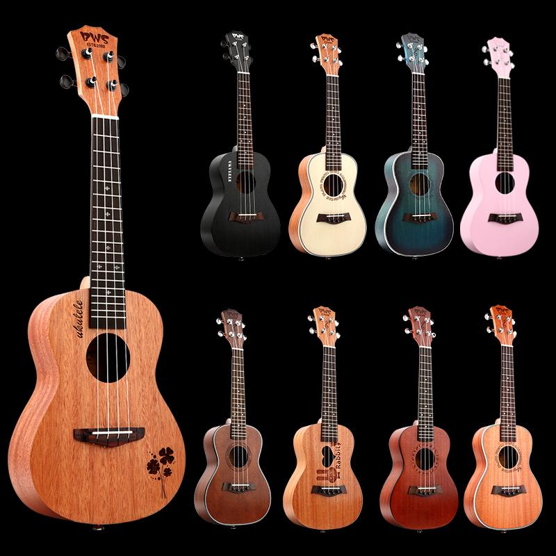 Полный вайс особенно керри в новичок студент взрослых женщин 23 дюймовый черный грамм корея корея ukulele26 дюймовый маленький гитара
