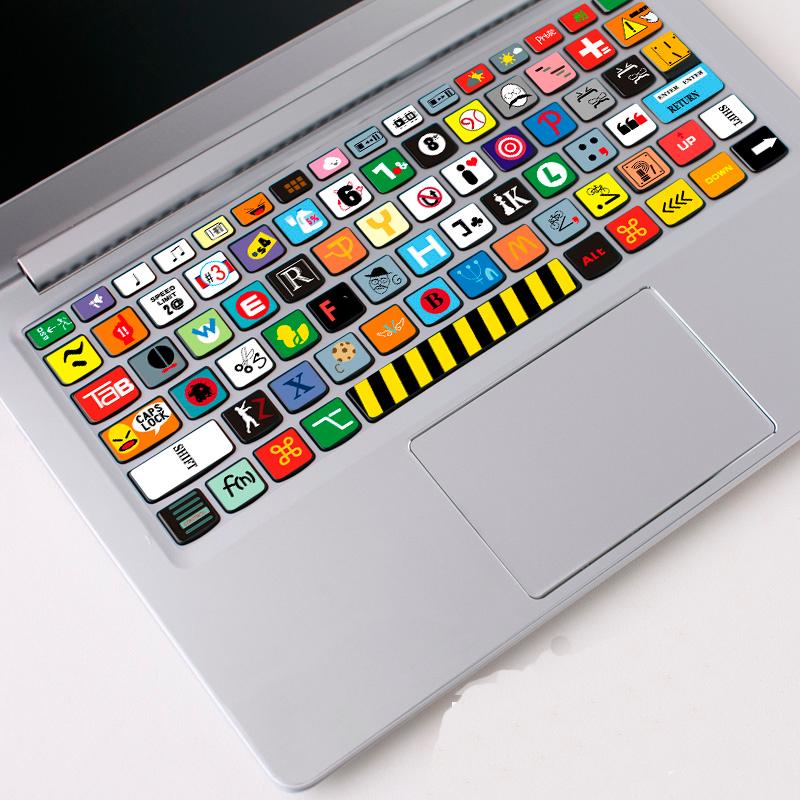 小米蘋果mac電腦小新Air筆記本15保護貼膜13寸鍵盤貼紙按鍵貼pro