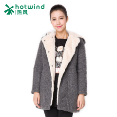 Hot hooded coat in the Korean version of the small fields breathe sweet woolen coats women ladies long Han Fan surge 11H5902