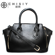 Qi XI-brand-name leather women bag handbag Joker for 2015 new female wing pattern of Litchi medium leather