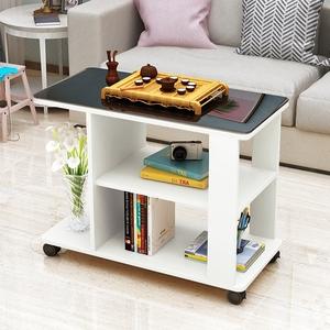 边几现代简约沙发边几客厅移动角几迷你功夫小茶几钢化玻璃话