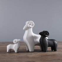 Three sheep Kaitai Home decorative Products Modern Simple Nordic model new House living room study cute ceramic sheep