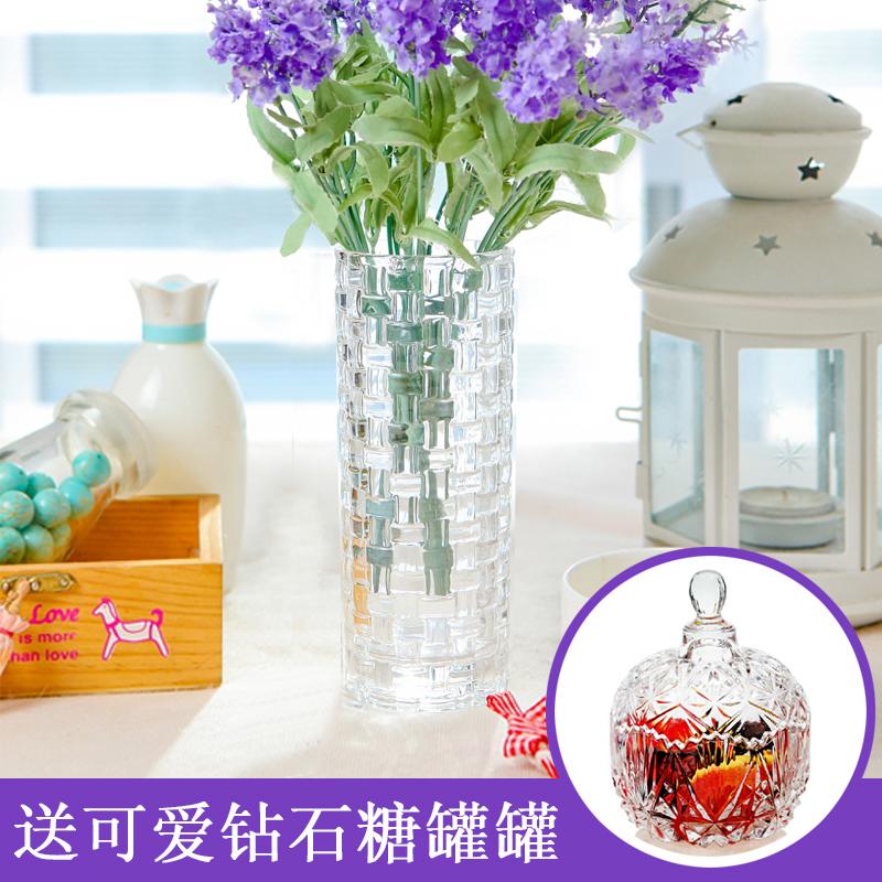 尚品誌透明玻璃花瓶客廳 歐式裝飾水培擺件富貴竹百合花插花器