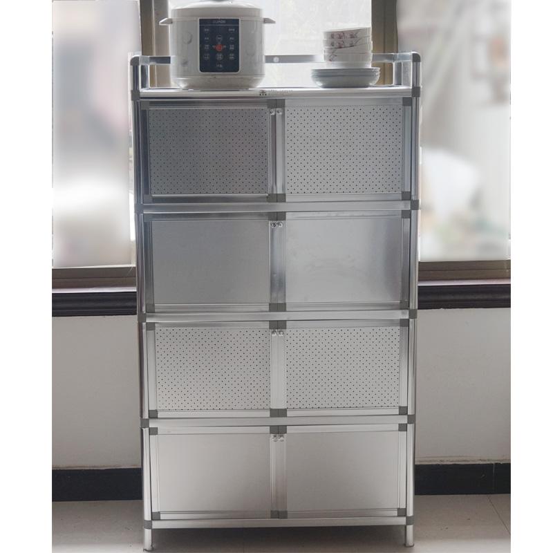 致力不锈钢碗橱柜阳台柜铝合金微波炉柜灶台柜电磁炉柜工具柜包邮