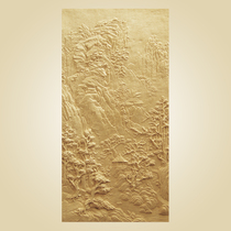 Sandstone sculpture sand rock background wall imitation Copper relief FRP custom artificial Sand carving sandstone relief landscape mural