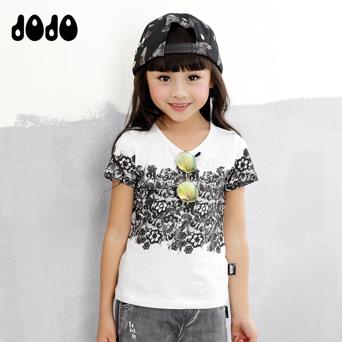 Jojo дети аутентичные весна/лето 2016 новый Джокер t рубашка хлопок короткие рукава корейской моде круглый вырез кофты