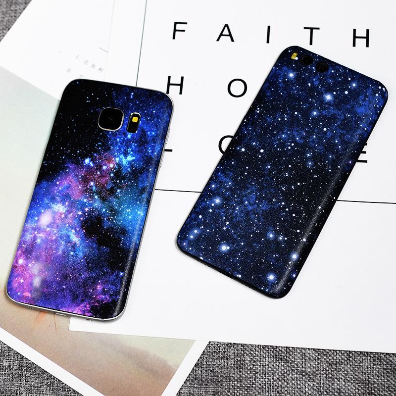 美本堂小米6X/6手机保护贴膜透明探索版彩膜 note3贴纸后盖背贴