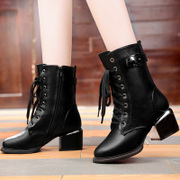 2015 fall/winter new products shield Fox elegant women's shoes boots in rough with pointy lace Europe Martin boots women's boots