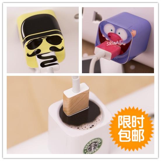 苹果充电器贴膜 iPhone6 Plus/4/4s/5c/5s电源个性创意插座贴纸