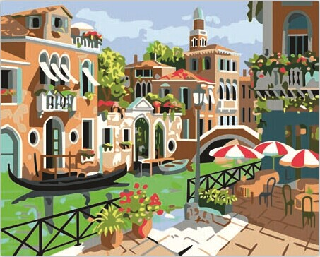 Подлинной Венеции, DIY цифровой живописи гостиной постельное летом 40 * 50 см холст сумка почта