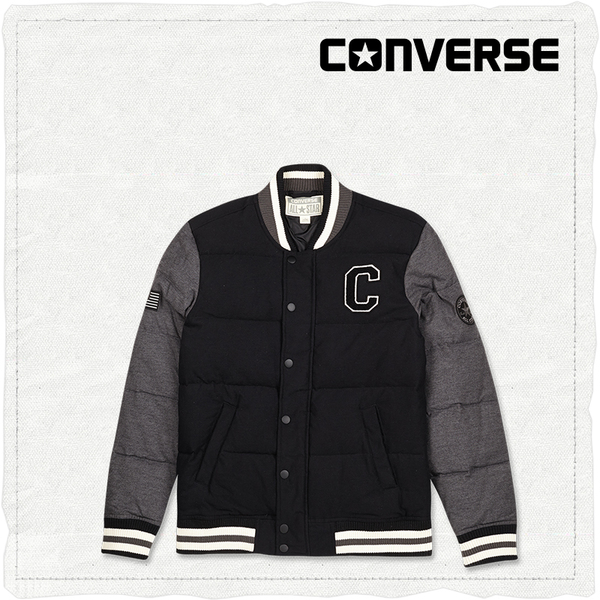 CONVERSE Converse official baseball stitching clothes section down jacket male models 12484C