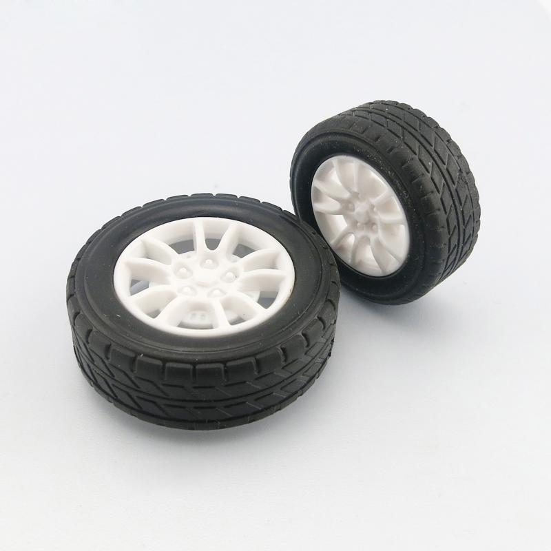 橡胶车轮胎 模型车轮 1:20 创意diy机器人遥控车配件 玩具车轮毂