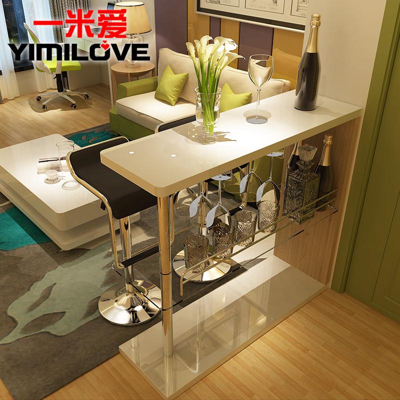 一米愛 簡約烤漆吧台 家用客廳隔斷 酒櫃靠牆小吧台桌子