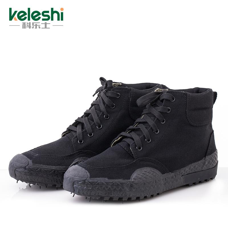 解放鞋 男 軍鞋高幫迷彩鞋07黑色作訓鞋勞保膠鞋軍訓鞋工地鞋