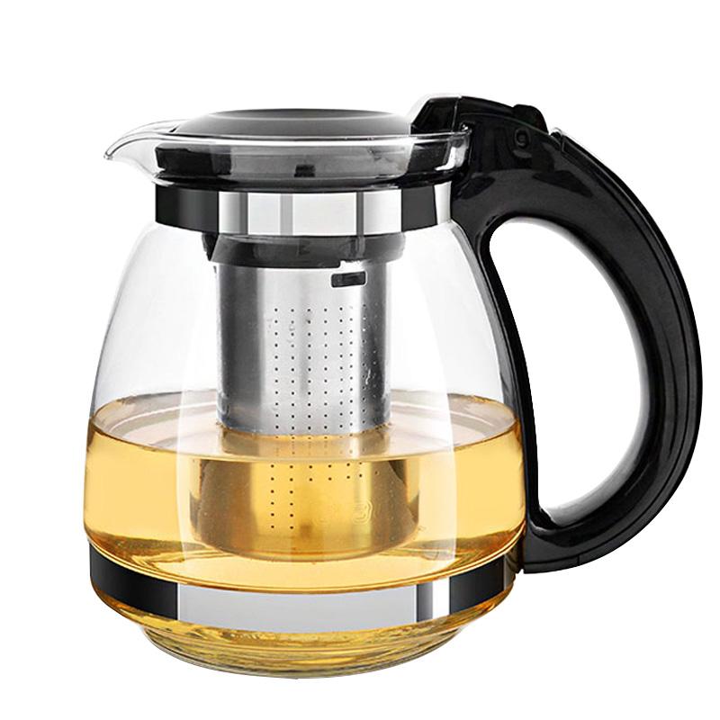 紫丁香 耐熱玻璃茶壺水壺1.5L 茶葉過濾 S91雙色