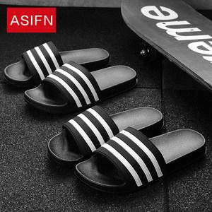夏季男士韩版潮流室内外一字拖拖鞋