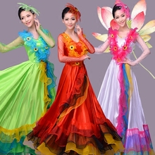 New Chorus Stage Dress, Opening Dance Dress, Female National Dance Performance Dress, Long Skirt