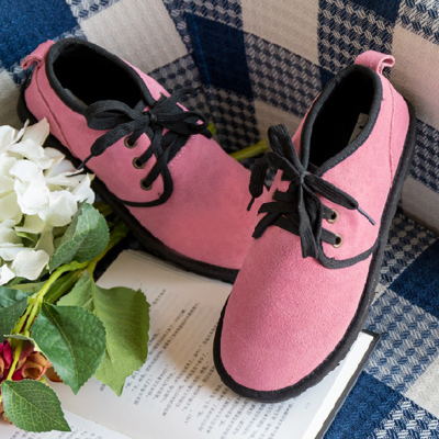 The new spring and summer 2015 frosted leather cross strap shoes round head deep mouth shoe tide leisure personality with students