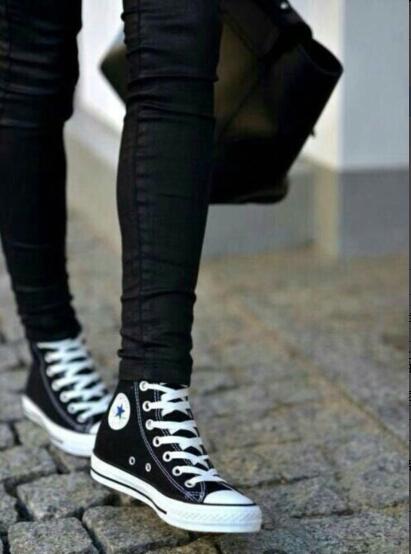 Новый Классические большой холст Привет Лоу вырезать случайным чистый черный мужчин черно-белая мужская обувь женская обувь