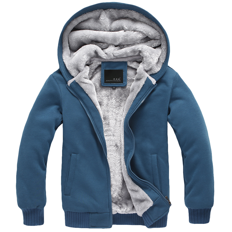 [special price every day] autumn and winter mens wear Korean fashion mens Plush casual hooded thickened sweater mens coat