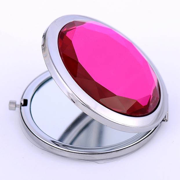 水晶化妝鏡摺疊便攜鏡子三八婦女節媽媽活動禮品禮物訂製LOGO