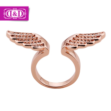 Slacks had finger ring opening female angel wings diamond ring with the European and American fashion hyperbole small adorn article