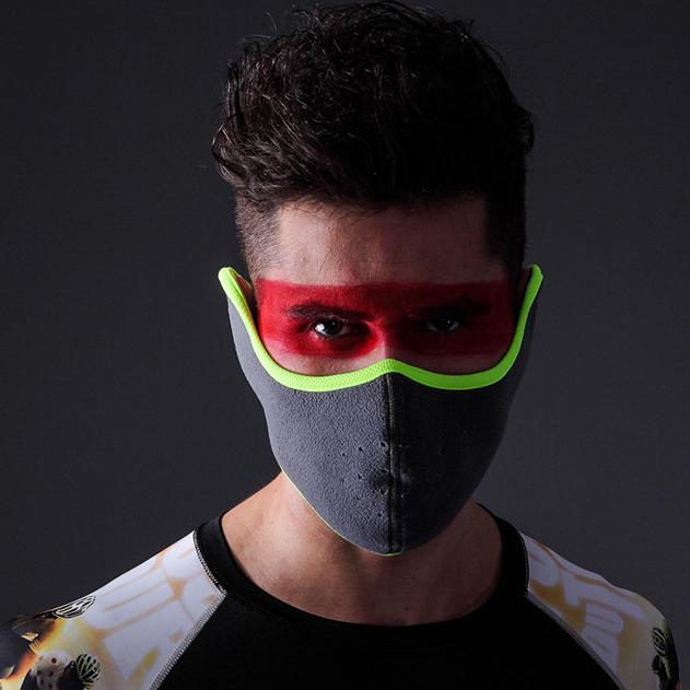 防寒抓絨保暖麵罩 冬天護耳防霧霾風口罩 護耳護臉口罩自行車騎行