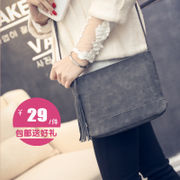 Women's slant inter-Korean version mini baodan shoulder bags simple retro-fashion trend fresh nubuck leather tassel bag