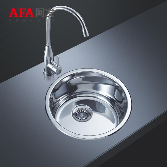 多く包んで阿発の水槽の台所のカウンターの小さい円の溝C 340のミニ円形の304ステンレスの水槽の単溝を郵送します。
