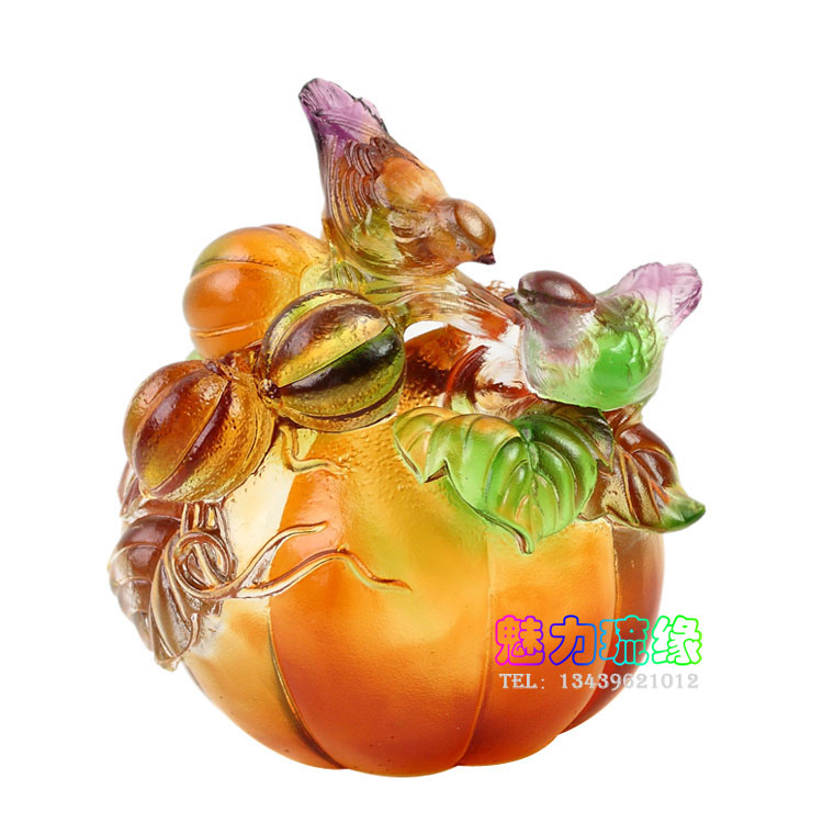 The joy of love glass ornaments to send friends wedding gifts gold and silver wedding anniversary gifts home decoration