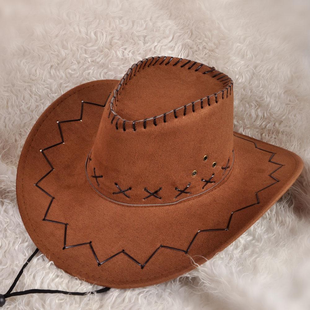 新款多色西部牛仔帽廠價 夏季時尚大檐遮陽情侶沙灘 表演舞臺道具