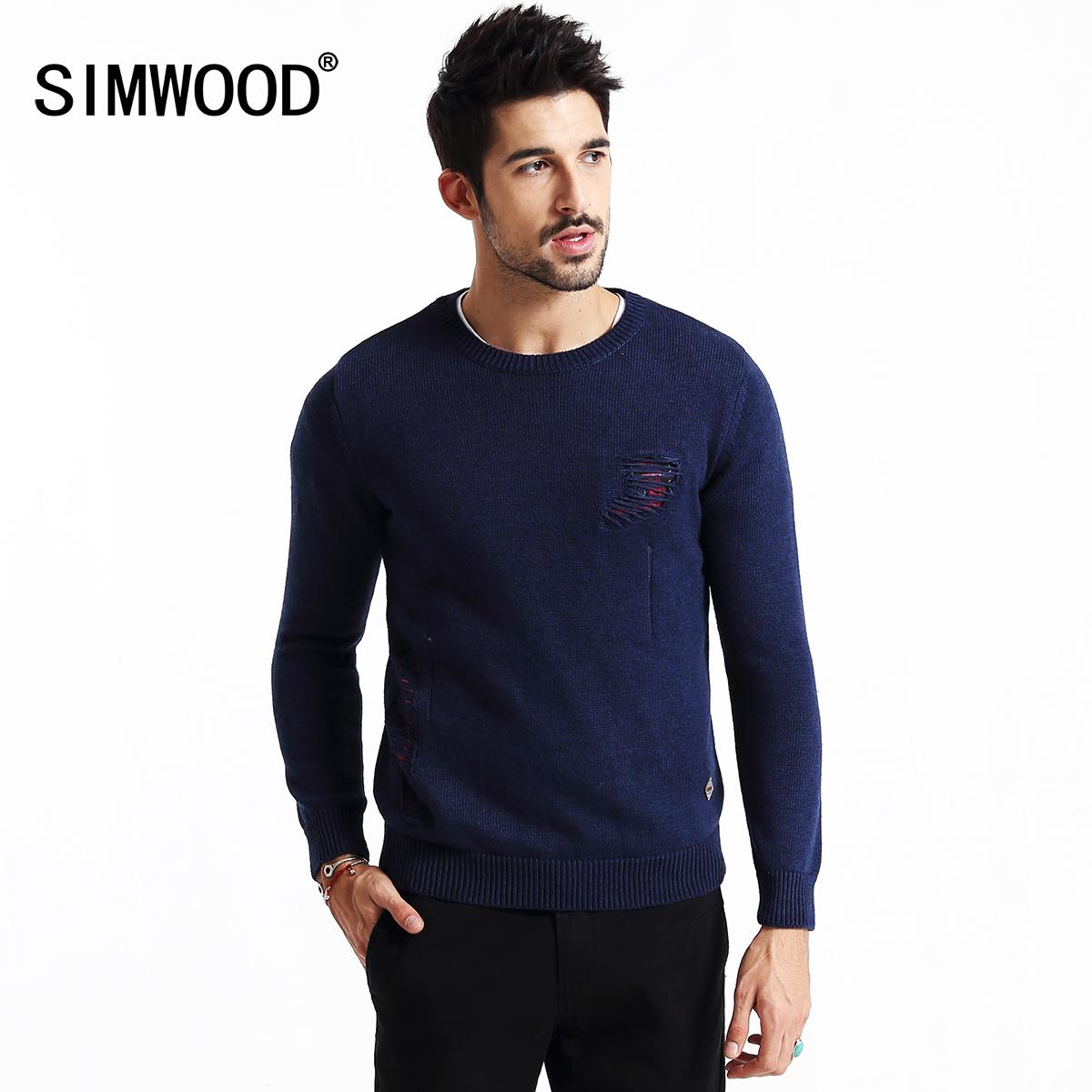simwood男士羊毛圓領毛衣