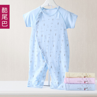 Infant 0 1 years old winter clothes winter baby baby short sleeve leotard open files climbing clothes newborn cotton