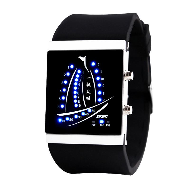Красивая мода привело желе Цифровые Часы Мужские часы пара Часы для мужчин и женщин студентов прилива мужчин смотреть