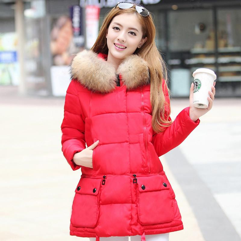 зимы 2015 новый стиль женщин для похудения длинной шерсти воротник длинное пальто в корейской версии хлопка плюс размер пальто куртки волна