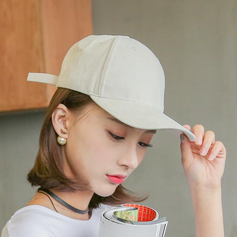 糖果粉色馬卡龍色棒球帽黑色純色彎簷帽鴨舌帽遮陽帽子女春夏