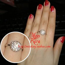 18 k gold/platinum plating Austrian crystal ball ring sparkling provoking love gold and silver 2 color into the fashionable woman