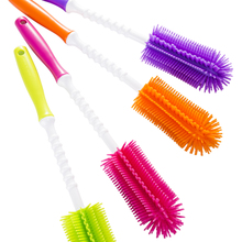 South Korea phyll will, baby bottle brush silicone one word baby milk bottle cleaning brush import package mail